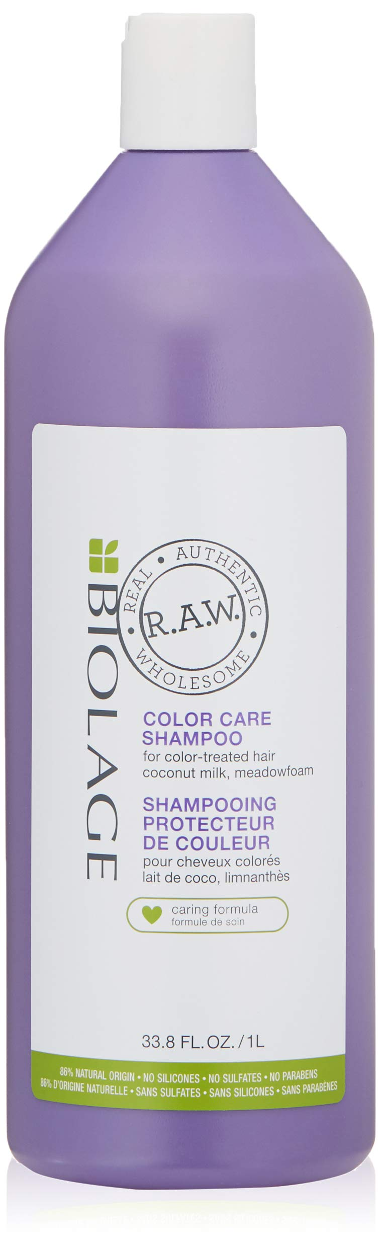 BIOLAGE R.A.W. Color Care Shampoo for Color Treated Hair with Coconut Milk and Meadowfoam, Sulfate Free, 33.8 fl. oz. by BIOLAGE