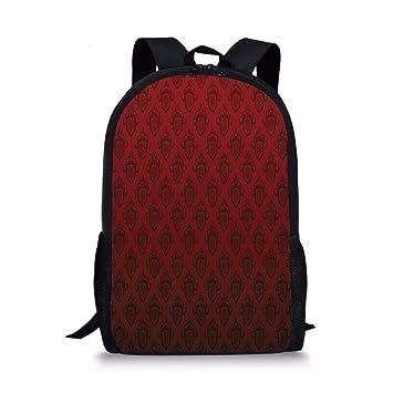 Amazoncom Fashbag Unisex Outdoor Backpack Maroon Baroque Art