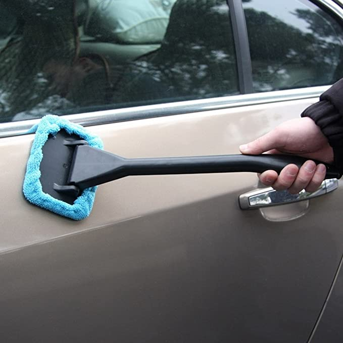 Windshield Wizard Car Cleaning Window Cleaner Kit Wind Screen Glass Brush Pads