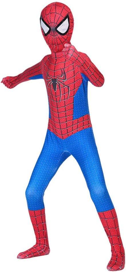 90-99cm RNGNBKLS Kind Spiderman Kost/üm Halloween Karneval Cosplay Party Anzug Superheld Spandex//Lycra Verkleidung,A-100