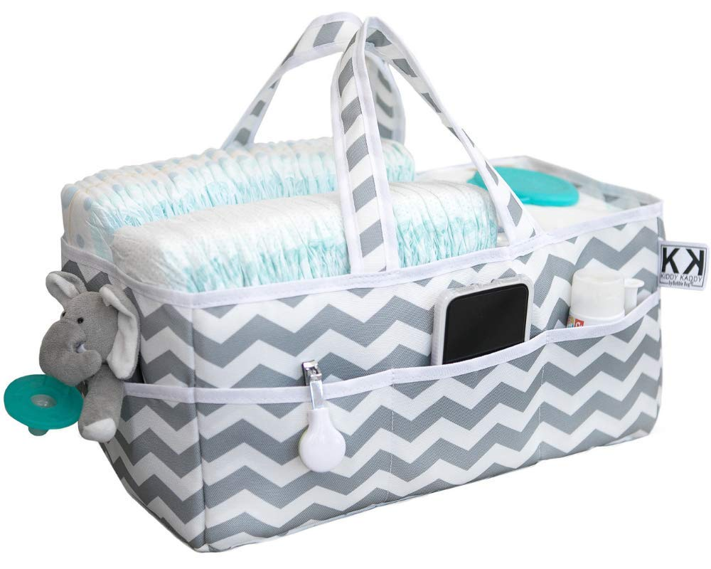 Kiddy Kaddy Diaper Caddy and Nursery Storage Organizer. Holds More Diapers Than Similar Products. Must-Have Baby Care Item for Home and Car. by BUBBLE BUG