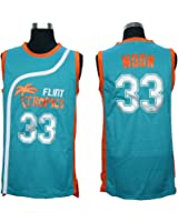 Stitched 33 Jackie Moon Flint Tropics Semi Pro Movie Basketball Jersey (green, Large) by none