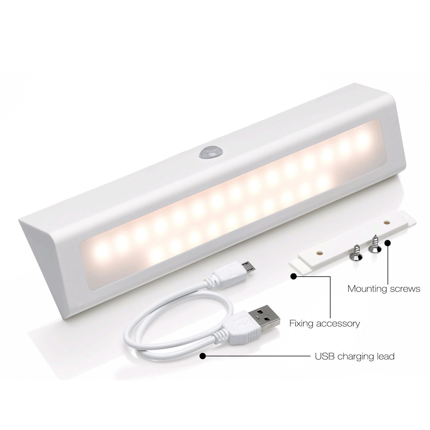 Auto Onoff Motion Sensor Led Night Light, Rechargeable Wireless Under