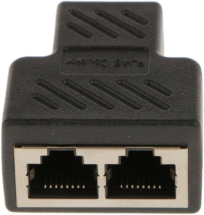 H Hilabee Rj45 Splitter Y Verteiler Netzwerk Patch Kupplung Lan Isdn Adapter Ethernet