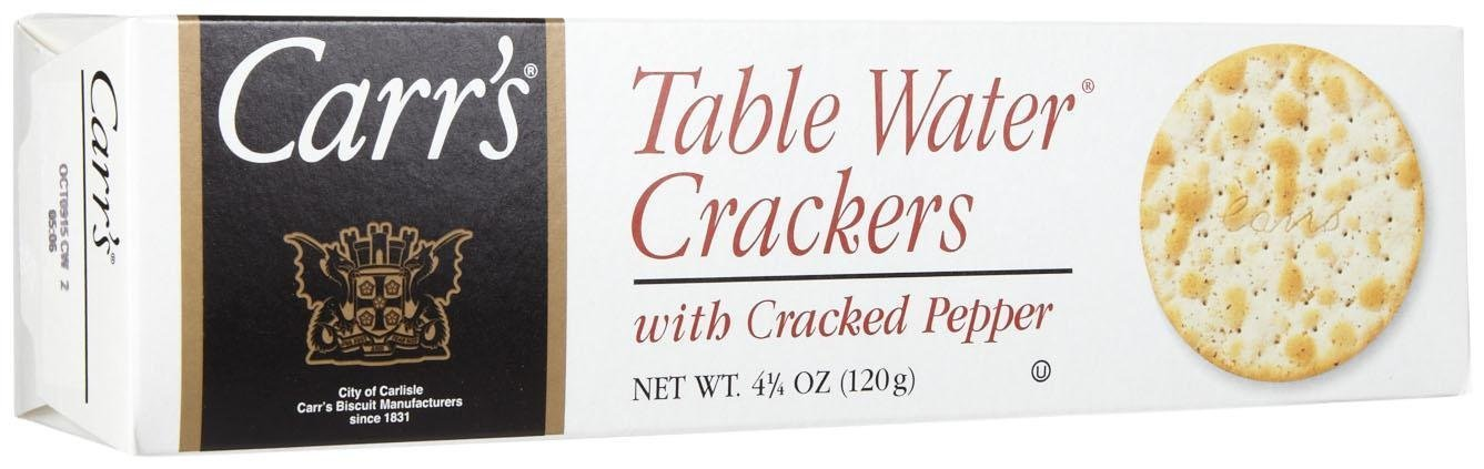 Carr's, Table Water W/Cracked Pepper Crackers, 4.25 oz