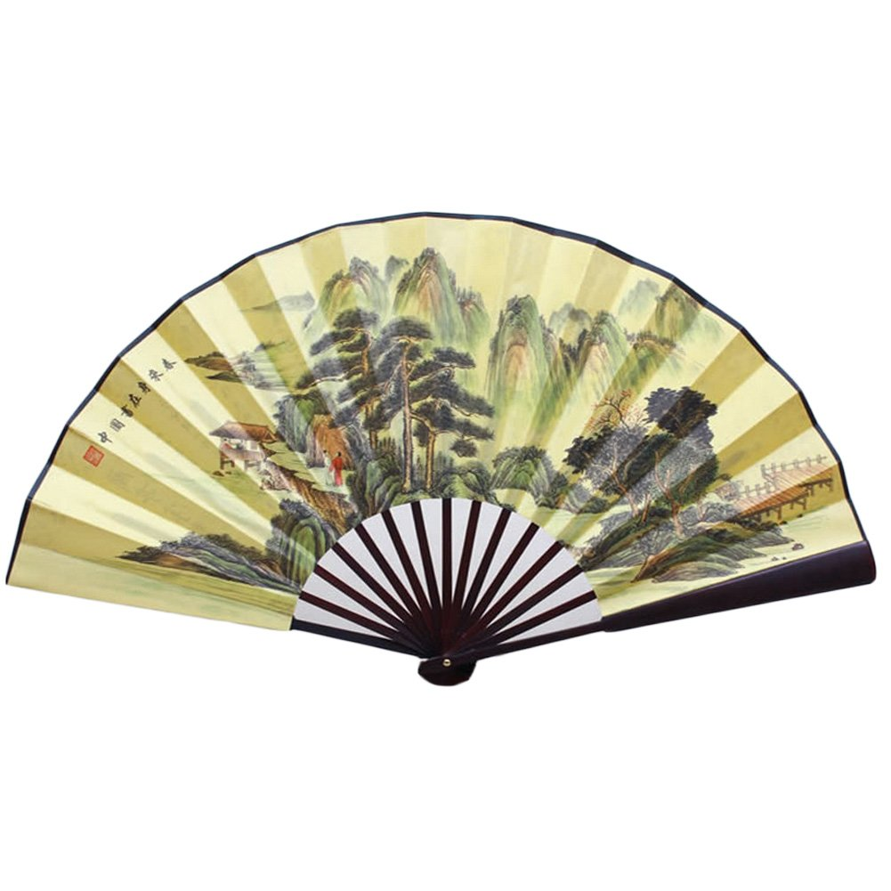 Chinese Traditional Sick Fan With Beautiful Mountains Pattern Blancho Bedding
