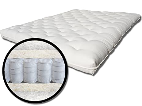 the futon shop 9 u0026quot  pure  fort organic queen size cotton wool coil mattress amazon    the futon shop 9   pure  fort organic queen size      rh   amazon