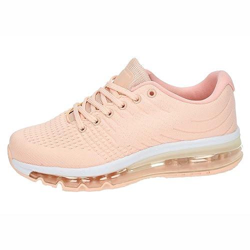 DEMAX 7-3237G Tenis CÁMARA DE Aire Mujer Deportivos Rosa 39: Amazon.es: Zapatos y complementos