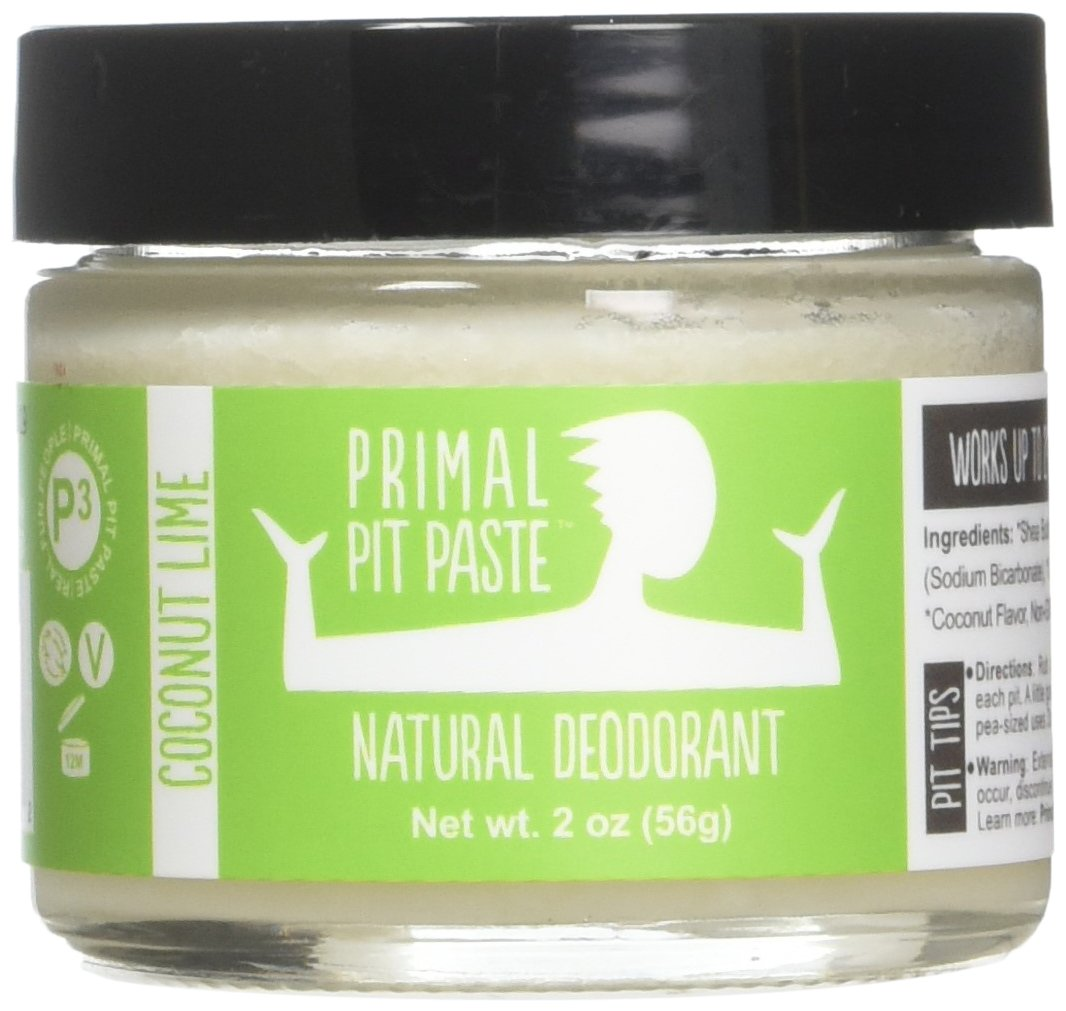 PRIMAL PIT PASTE All Natural Coconut Lime Deodorant | 2 Ounce Jar | NO Aluminum, NO Parabens | For Women and Men of All Ages | Non-GMO, Cruelty Free, Earth Friendly, BPA Free