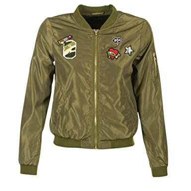Only Onllinea Badge Nylon Bomber Otw, Chaqueta para Mujer ...