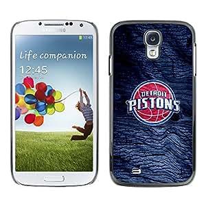 Design for Girls Plastic Cover Case FOR Samsung Galaxy S4 Detroit Piston Basketball OBBA