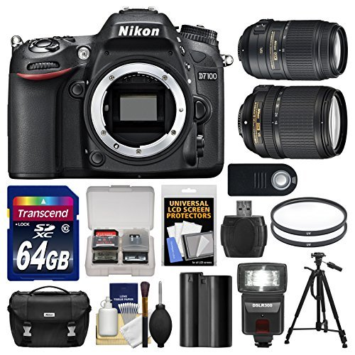 Nikon D7100 Digital SLR Camera Body with 18-140mm & 55-300mm VR Lens + 64GB Card + Case + LED Flash + Battery + Tripod Kit Review