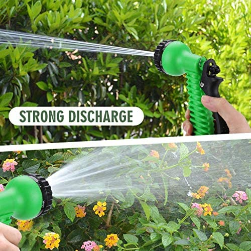 WANGLXFC Expandable Hose, Garden Retractable Water Pipe Household Cleaning Hose Car Wash Water Pipe for Garden Irrigation Lawn Watering, 100FT