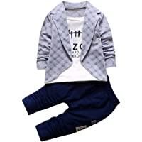 JIANLANPTT Kids Baby Boys Casual 2 Pcs Pant Clothes Set Formal Party Outfits