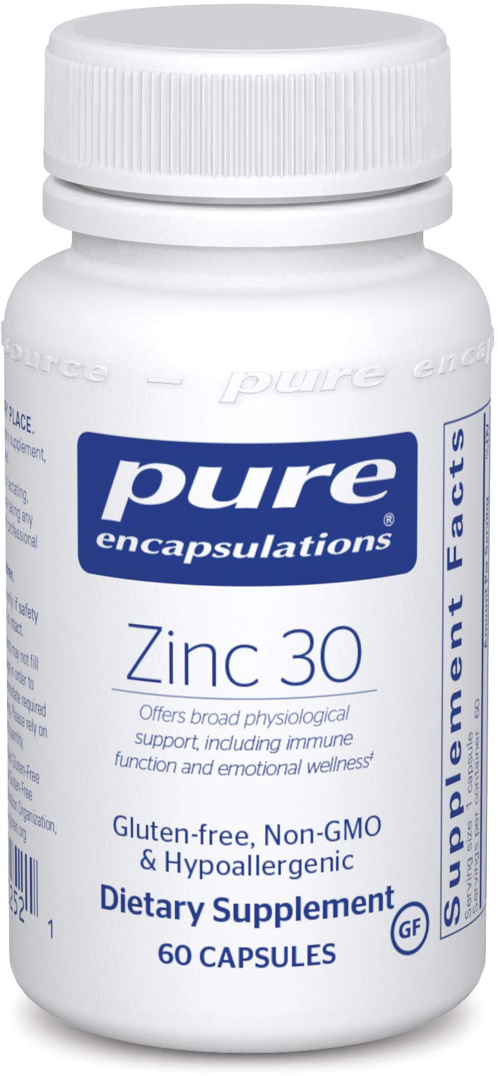 Pure Encapsulations - Zinc 30 - Zinc Picolinate (30 mg.) Highly Absorbable Hypoallergenic Supplement for Immune Support* - 60 Capsules