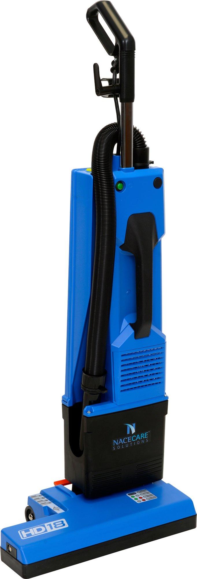 NaceCare HD 18 14'' Dual Motor Upright Vacuum, 6.5 qt Capacity, 300W Brush Motor, 3500 RPM
