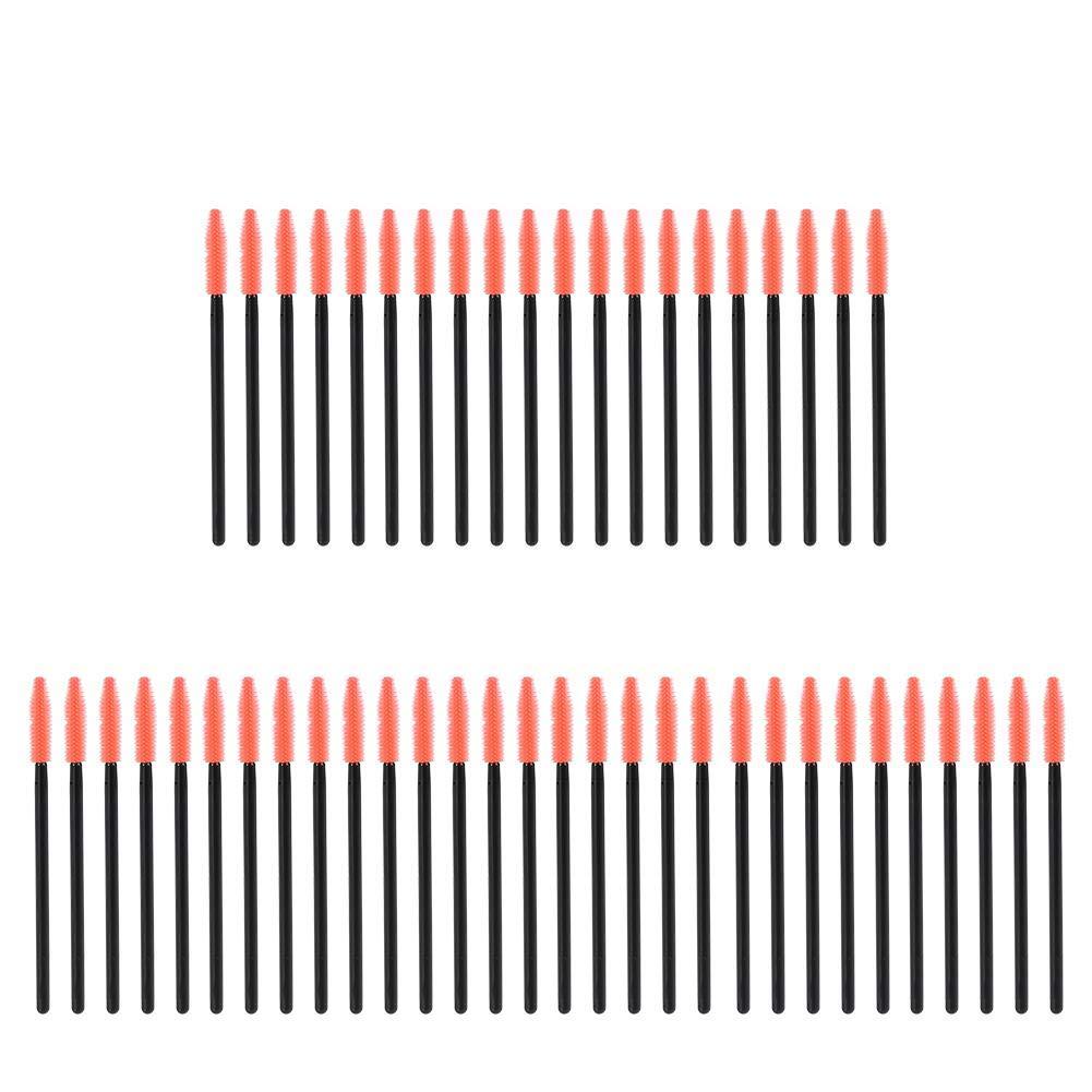 4 Types 50Pcs Disposable Mascara Wand Brush, Eyelash Extension Applicator Makeup Kit for Girls Women Beauty Makeup Accessories(Ball) GLOGLOW