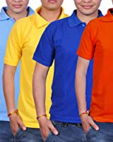 Combo Pack Of 4 Gdivine Men's Cotton Tshirt