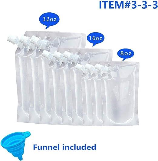 Amazon.com: Botellas de plástico para licor con embudo ...