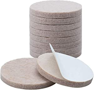 "uxcell 10pcs Furniture Pads Round 1 1/4"" Self Adhesive Self-stick Non-slip Anti-scratch Felt Pads Floor Protector Beige"