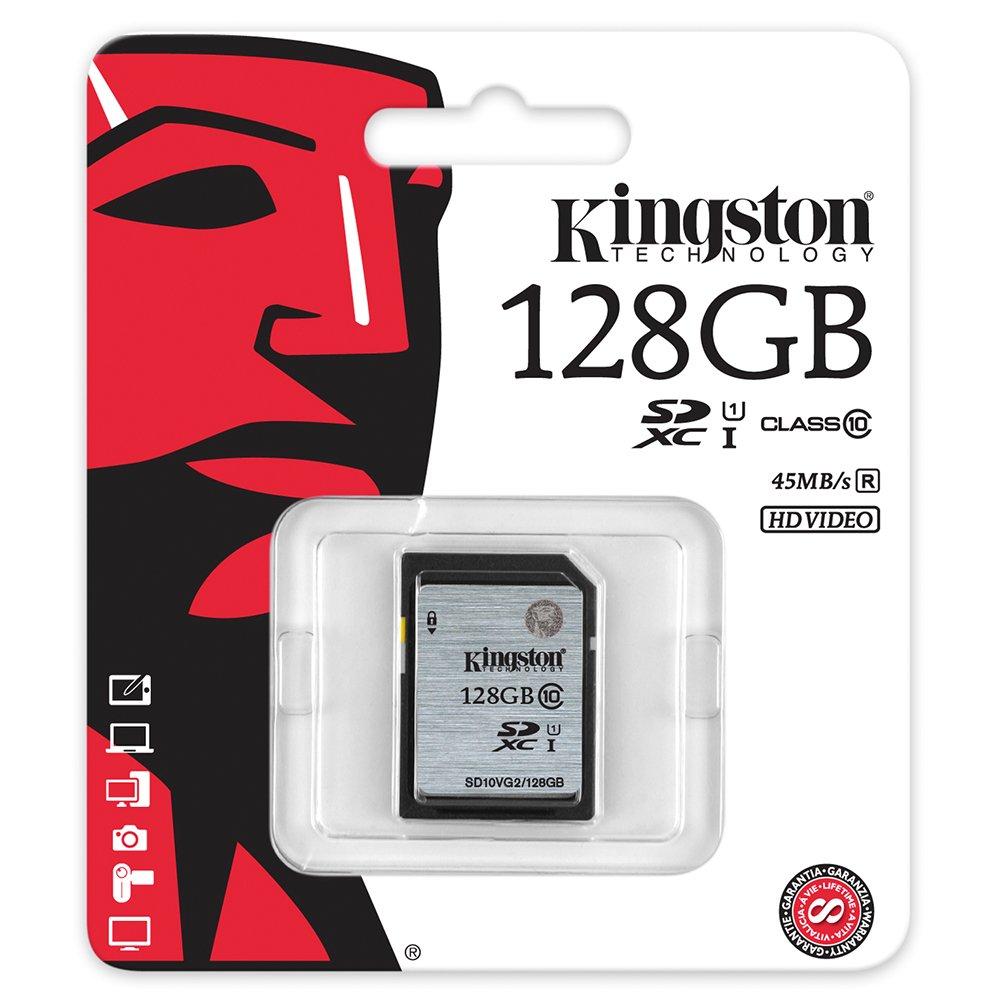 Kingston SD10VG2/128GB - Tarjeta SD UHS-I SDHC/SDXC (Clase 10 ...