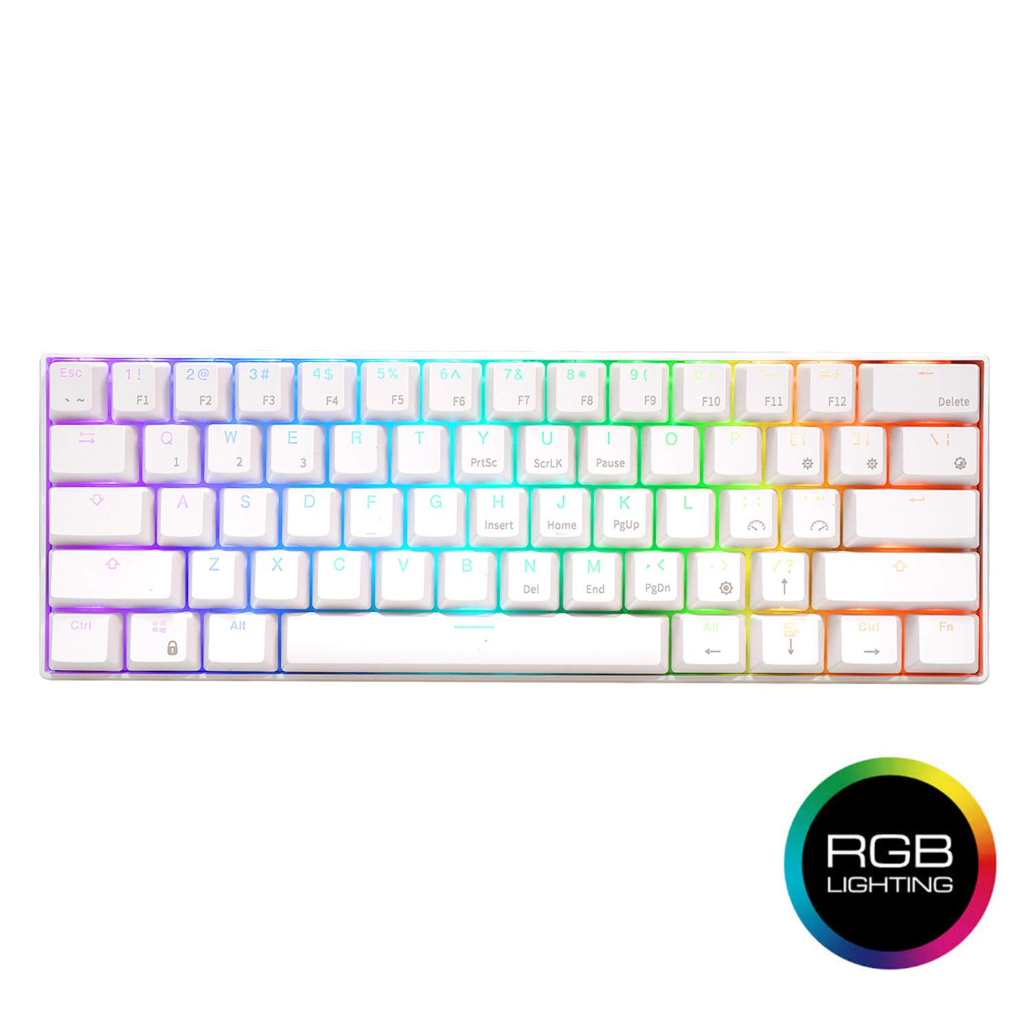 Teclado Mecanico 60% RK ROYAL KLUDGE RK61 Wired Ultra-C -ZNS