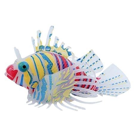 Adorno artificial para acuario con diseño de león para peces, peceras, peceras, tanques