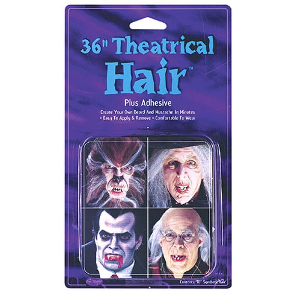 Gray Theatrical Costume Hair