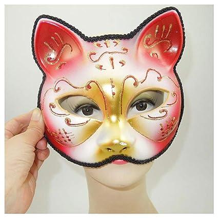 Máscara YN Dejando a Las vírgenes con la Misma Zorro Cara Media de Adulto Cara Japonesa