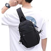 Small Black Sling Crossbody Backpack Shoulder Bag for Men Women, Lightweight One Strap Backpack Sling Bag Backpack for…