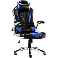 JL Comfurni Gaming Stuhl Buerostuhl Ergonomischer Computerstuhl Chefsessel