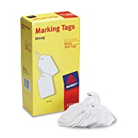Avery 12201 Medium-Weight White Marking Tags, 2 3/4 x 1 11/16 (Box of 1000) - Packaging May Vary