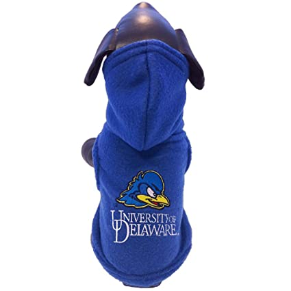 XX-Small NCAA Delaware Fightin Blue Hens Polar Fleece Hooded Dog Jacket