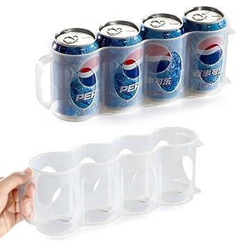 Cerveza Soda puede caja de almacenamiento, organizador de cocina frigorífico para botella de bebidas nevera