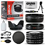 10 Piece Ultimate Lens Package For the Canon PowerShot SX40 SX50 HS SX30 SX20 SX10 SX1 Includes 67MM 0.43x High Definition II Wide Angle Panoramic Macro Fisheye Lens + 67MM 2.2x Extreme High Definition AF Telephoto Lens + 67MM Professional 3 Piece Filter