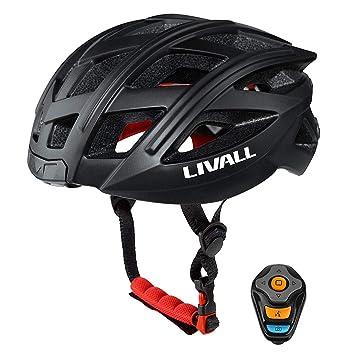 CHEYAL Livall Smart Bike Bluetooth Casco con Manillar Inalámbrico Control Remoto-Luz De La Cola