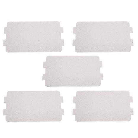 5Pcs Horno Microondas Mica Hoja Plate, Microondas Guía De Ondas De La Cubierta De Repuesto Reparación De Accesorios, Ideal para Cocina Microondas ...