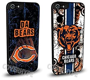 Chicago Bears Cell Phone Hard Case TWO PACK for iPhone 4 4s