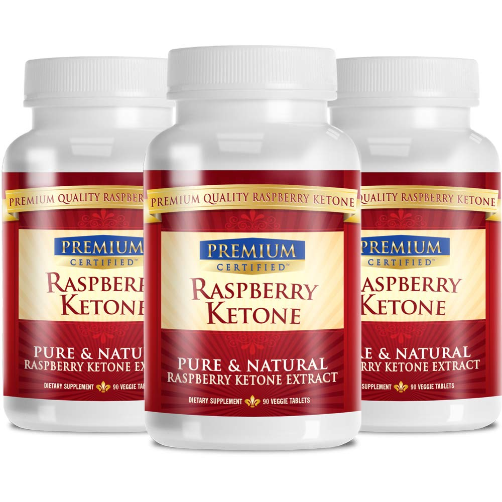 Raspberry Ketone Premium: 100% Pure Raspberry Ketones - 500mgs - 180 Capsules - 3 Month Supply - Quick Fat Burner by Raspberry Ketone Premium