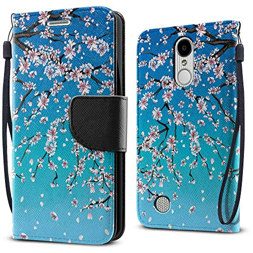FINCIBO Case Compatible with LG Aristo MS210 LV3 K8 2017 Phoenix 3 M150 Fortune, Fashionable Flap Pouch Cover Case + Card Holder Stand for LG Aristo MS210 (NOT FIT K8 ()