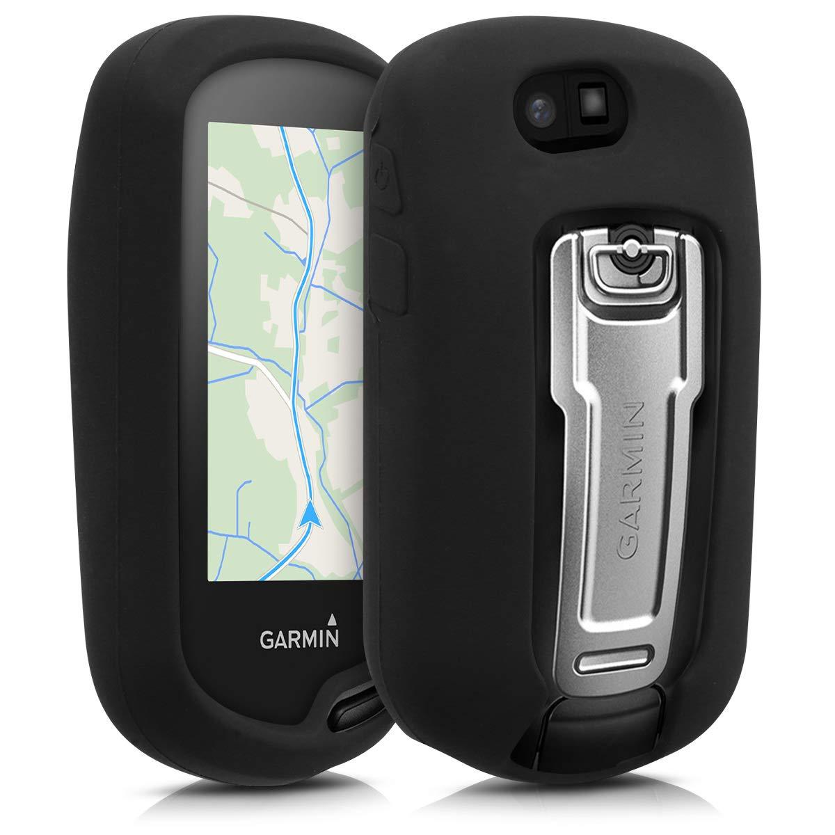 kwmobile Case for Garmin Oregon 700 / 750t - GPS handset navigation system silicone protective case - outdoor navigation device case cover Black