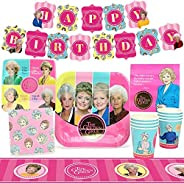 Golden Girls Party Supplies (Standard) Golden Birthday Party Pack, 58 Piece Set, by Prime Party