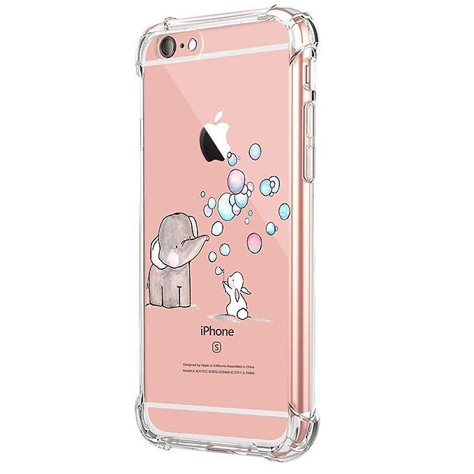 a9bdd5296f6 Funda iPhone 7 Carcasa Silicona Transparente Protector TPU Airbag Anti- Choque Ultra-Delgado Anti-arañazos Case para Teléfono Apple iPhone 7 Plus  Caso Caja