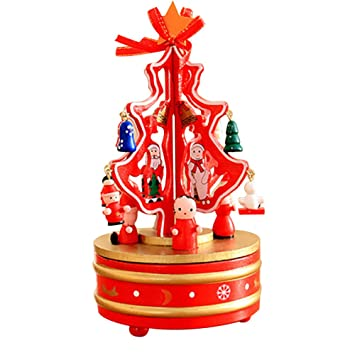 christmas decorations ornaments dream wooden carousel music box of eight box christmas tree a - Wooden Box Christmas Decorations