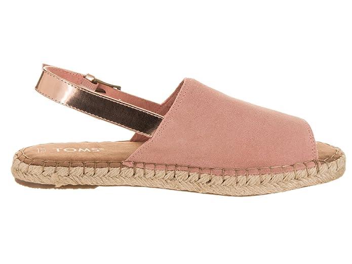 TOMS Clara Sandalia 6,5 DE EE.UU. Mujer Bloom Gamuza/de Rose Gold Specchio 6,5 B (M) US: Amazon.es: Zapatos y complementos