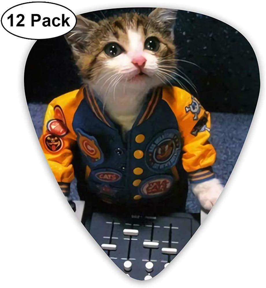 DJ Kitty Kat Guitar Picks 12 Pack, 3 espesores incluyendo 0.46mm ...