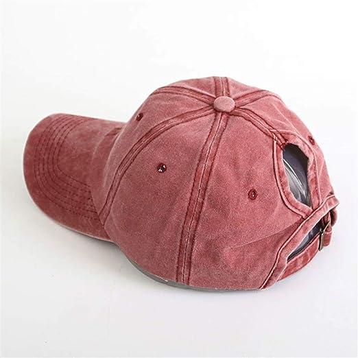 Casual Hombres Algodón sólido Snapback ajustable gorra de béisbol ...