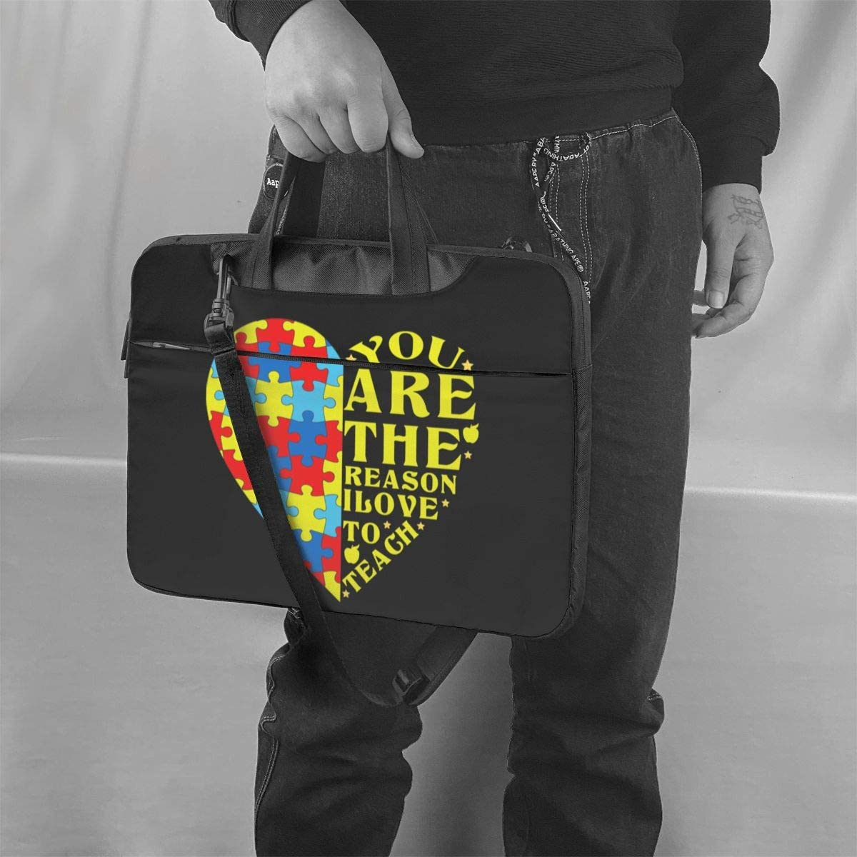 You are The Reason I Love to Teach Shoulder Shockproof Laptop Bag Laptop Sleeve Case Ultra-Slim Laptop Computer Pouch Bag 13//14//15.6 Inch