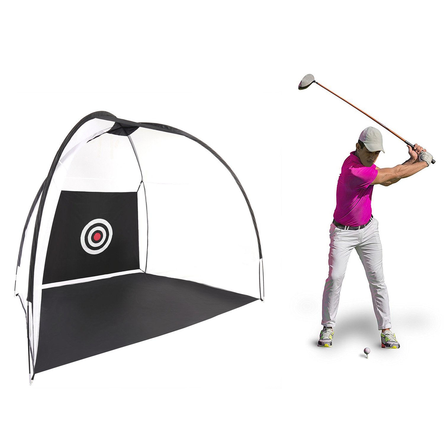 UPMIK Golfing Net Training Aids Hitting at Home Swing Training Aids Practice Driving Indoor and Outdoor