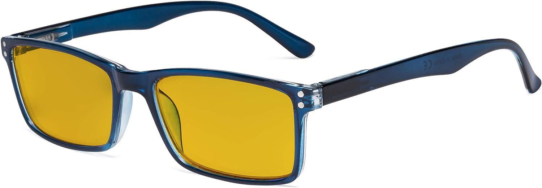Anti Luce Blu Occhiali con Lente Filtro Tinti Ambra Eyekepper Occhiali per Computer Blu Occhiali alla Moda